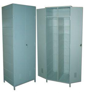 Шкаф для спецодежды двухсекционный