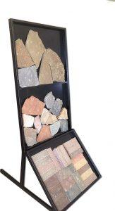 Стеллаж для облицовочного камня и тротуарной плитки